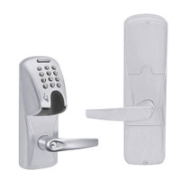 AD200-CY-50-MGK-ATH-RD-626 Schlage Office Magnetic Stripe(Insert) Keypad Lock with Athens Lever in Satin Chrome