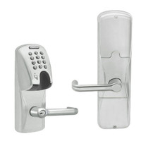 AD200-CY-50-MGK-TLR-RD-619 Schlage Office Magnetic Stripe(Insert) Keypad Lock with Tubular Lever in Satin Nickel