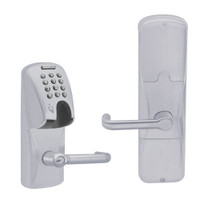 AD200-CY-50-MGK-TLR-RD-626 Schlage Office Magnetic Stripe(Insert) Keypad Lock with Tubular Lever in Satin Chrome
