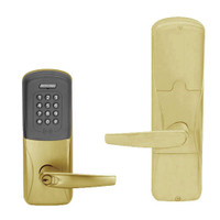 AD200-CY-50-MTK-ATH-RD-606 Schlage Office Multi-Technology Keypad Lock with Athens Lever in Satin Brass