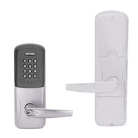 AD200-CY-50-MTK-ATH-RD-626 Schlage Office Multi-Technology Keypad Lock with Athens Lever in Satin Chrome
