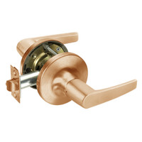 MO5430LN-612 Yale 5400LN Series Double Cylinder Utility or Institutional Cylindrical Lock with Monroe Lever in Satin Bronze