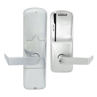 AD200-CY-70-MS-RHO-GD-29R-619 Schlage Classroom/Storeroom Magnetic Stripe(Swipe) Lock with Rhodes Lever in Satin Nickel