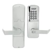 AD200-CY-70-MSK-RHO-GD-29R-619 Schlage Classroom/Storeroom Magnetic Stripe Keypad Lock with Rhodes Lever in Satin Nickel