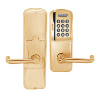AD200-CY-70-MSK-TLR-GD-29R-612 Schlage Classroom/Storeroom Magnetic Stripe Keypad Lock with Tubular Lever in Satin Bronze
