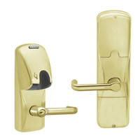 AD200-CY-70-MG-TLR-GD-29R-606 Schlage Classroom/Storeroom Magnetic Stripe(Insert) Lock with Tubular Lever in Satin Brass