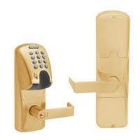 AD200-CY-70-MGK-RHO-GD-29R-612 Schlage Classroom/Storeroom Magnetic Stripe(Insert) Keypad Lock with Rhodes Lever in Satin Bronze