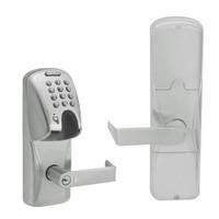 AD200-CY-70-MGK-RHO-GD-29R-619 Schlage Classroom/Storeroom Magnetic Stripe(Insert) Keypad Lock with Rhodes Lever in Satin Nickel