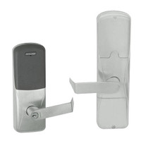 AD200-CY-70-MT-RHO-GD-29R-619 Schlage Classroom/Storeroom Multi-Technology Lock with Rhodes Lever in Satin Nickel