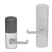 AD200-CY-70-MTK-TLR-GD-29R-619 Schlage Classroom/Storeroom Multi-Technology Keypad Lock with Tubular Lever in Satin Nickel