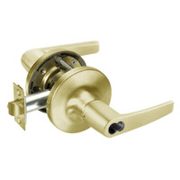 B-MO5417LN-605 Yale 5400LN Series Double Cylinder Apartment or Exit Cylindrical Locks with Monroe Lever Prepped for SFIC in Bright Brass