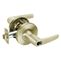 B-MO5417LN-606 Yale 5400LN Series Double Cylinder Apartment or Exit Cylindrical Locks with Monroe Lever Prepped for SFIC in Satin Brass