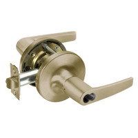 B-MO5417LN-609 Yale 5400LN Series Double Cylinder Apartment or Exit Cylindrical Locks with Monroe Lever Prepped for SFIC in Antique Brass