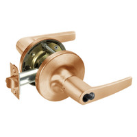 B-MO5417LN-612 Yale 5400LN Series Double Cylinder Apartment or Exit Cylindrical Locks with Monroe Lever Prepped for SFIC in Satin Bronze