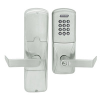 AD200-CY-50-KP-RHO-GD-29R-619 Schlage Office Cylindrical Keypad Lock with Rhodes Lever in Satin Nickel