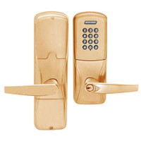 AD200-CY-50-KP-ATH-GD-29R-612 Schlage Office Cylindrical Keypad Lock with Athens Lever in Satin Bronze