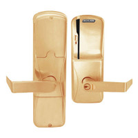 AD200-CY-50-MS-RHO-GD-29R-612 Schlage Office Magnetic Stripe(Swipe) Lock with Rhodes Lever in Satin Bronze