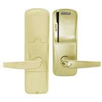 AD200-CY-50-MS-ATH-GD-29R-606 Schlage Office Magnetic Stripe(Swipe) Lock with Athens Lever in Satin Brass