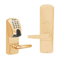 AD200-CY-50-MGK-ATH-GD-29R-612 Schlage Office Magnetic Stripe(Insert) Keypad Lock with Athens Lever in Satin Bronze