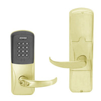 AD200-CY-50-MTK-SPA-GD-29R-606 Schlage Office Multi-Technology Keypad Lock with Sparta Lever in Satin Brass