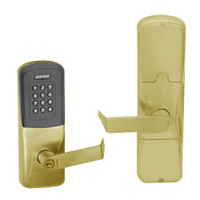 AD200-CY-50-MTK-RHO-GD-29R-606 Schlage Office Multi-Technology Keypad Lock with Rhodes Lever in Satin Brass