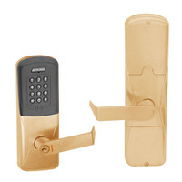 AD200-CY-50-MTK-RHO-GD-29R-612 Schlage Office Multi-Technology Keypad Lock with Rhodes Lever in Satin Bronze
