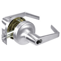M-AU5307LN-625 Yale 5300LN Series Single Cylinder Entry Cylindrical Lock with Augusta Lever Prepped for Medeco-ASSA IC Core in Bright Chrome