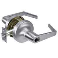 M-AU5308LN-626 Yale 5300LN Series Single Cylinder Classroom Cylindrical Lock with Augusta Lever Prepped for Medeco-ASSA IC Core in Satin Chrome