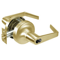 M-AU5308LN-606 Yale 5300LN Series Single Cylinder Classroom Cylindrical Lock with Augusta Lever Prepped for Medeco-ASSA IC Core in Satin Brass