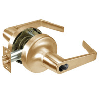 M-AU5308LN-612 Yale 5300LN Series Single Cylinder Classroom Cylindrical Lock with Augusta Lever Prepped for Medeco-ASSA IC Core in Satin Bronze