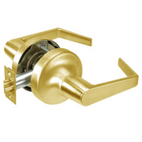 AU5309LN-605 Yale 5300LN Series Non-Keyed Exit Latch Cylindrical Locks with Augusta Lever in Bright Brass