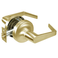 AU5309LN-606 Yale 5300LN Series Non-Keyed Exit Latch Cylindrical Locks with Augusta Lever in Satin Brass