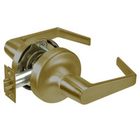 AU5309LN-609 Yale 5300LN Series Non-Keyed Exit Latch Cylindrical Locks with Augusta Lever in Antique Brass