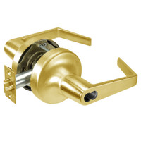 AU5325LN-605 Yale 5300LN Series Non-Keyed Privacy Cylindrical Locks with Augusta Lever in Bright Brass