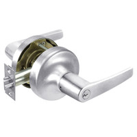 MO5307LN-625 Yale 5300LN Series Single Cylinder Entry Cylindrical Lock with Monroe Lever in Bright Chrome