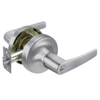 MO5330LN-626 Yale 5300LN Series Double Cylinder Utility or Institutional Cylindrical Lock with Monroe Lever in Satin Chrome