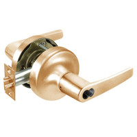 B-MO5308LN-612 Yale 5300LN Series Single Cylinder Classroom Cylindrical Lock with Monroe Lever Prepped for SFIC in Satin Bronze