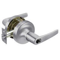 B-MO5322LN-626 Yale 5300LN Series Single Cylinder Corridor Cylindrical Lock with Monroe Lever Prepped for SFIC in Satin Chrome