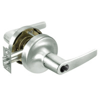 B-MO5322LN-619 Yale 5300LN Series Single Cylinder Corridor Cylindrical Lock with Monroe Lever Prepped for SFIC in Satin Nickel