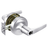 B-MO5322LN-625 Yale 5300LN Series Single Cylinder Corridor Cylindrical Lock with Monroe Lever Prepped for SFIC in Bright Chrome