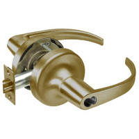 SI-PB5322LN-609 Yale 5300LN Series Single Cylinder Corridor Cylindrical Lock with Pacific Beach Lever Prepped for Schlage IC Core in Antique Brass