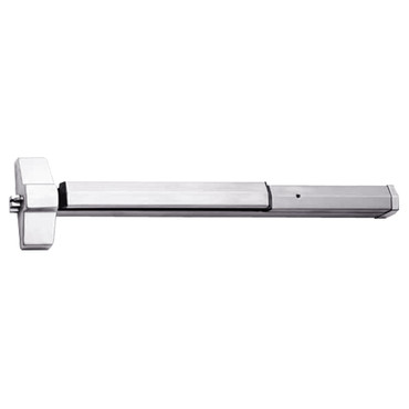 7150-24-629 Yale 7000 Series Non Fire Rated SquareBolt Exit Device in Bright Stainless Steel