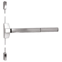 7110FP-24-629 Yale 7000 Series Fire Rated Surface Vertical Rod Exit Device with Electric Latch Pullback in Bright Stainless Steel