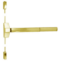 7110FP-36-605 Yale 7000 Series Fire Rated Surface Vertical Rod Exit Device with Electric Latch Pullback in Bright Brass