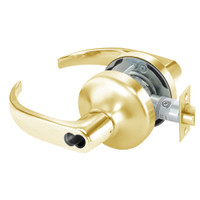 SI-PB4706LN-605 Yale 4700LN Series Single Cylinder Service Station Cylindrical Lock with Pacific Beach Lever Prepped for Schlage IC Core in Bright Brass