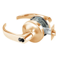 SI-PB4706LN-612 Yale 4700LN Series Single Cylinder Service Station Cylindrical Lock with Pacific Beach Lever Prepped for Schlage IC Core in Satin Bronze
