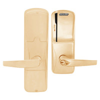 AD200-MS-50-MS-ATH-PD-612 Schlage Office Mortise Magnetic Stripe(Swipe) Lock with Athens Lever in Satin Bronze