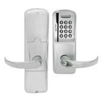 AD200-MS-50-MSK-SPA-PD-619 Schlage Office Mortise Magnetic Stripe Keypad Lock with Sparta Lever in Satin Nickel