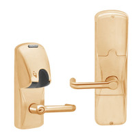 AD200-MS-50-MG-TLR-PD-612 Schlage Office Mortise Magnetic Stripe(Insert) Lock with Tubular Lever in Satin Bronze