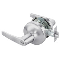 MO4705LN-626 Yale 4700LN Series Single Cylinder Storeroom or Closet Cylindrical Lock with Monroe Lever in Satin Chrome